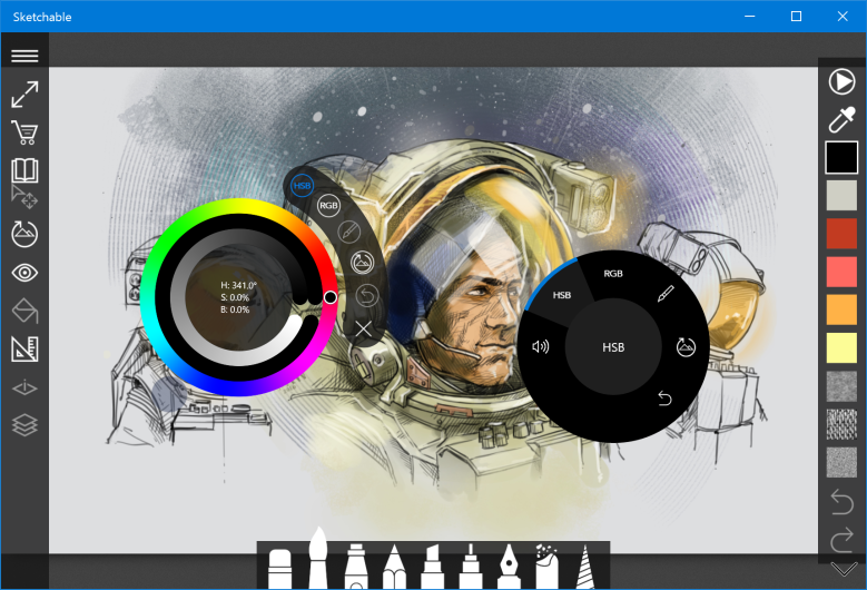 Surface Dial Sketchable