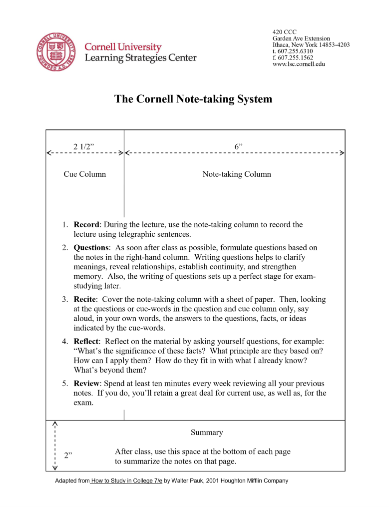 The-Cornell-Note-taking-System